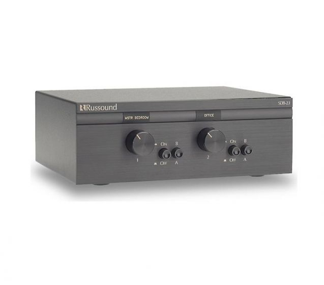 Russound SDB-2 1 - Dual Source Two Pair Impedance Matching Speaker Selector  with Volume Control