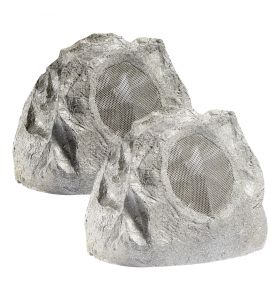 Lithe Audio All-in-one Bluetooth Outdoor Garden Rock Speaker (Pair)